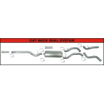 "FLO-PRO Aluminized 4"" Cat Back Dual Exhaust with Muffler"